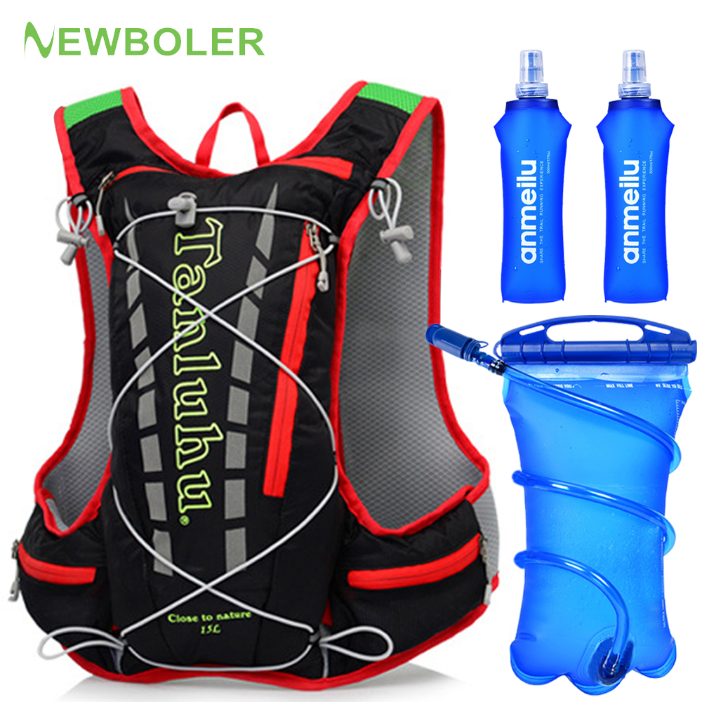 Hydration Backpack Outdoor Water Bag 15L 20L Women Men Camping Hiking Running Cycling Camel Bag Water Bladder Container 2L 3L