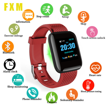 цена на Smart Watch Men Blood Pressure Smartwatch Women Heart Rate Monitor Fitness Tracker Watch Sport For Android IOS Free shipping