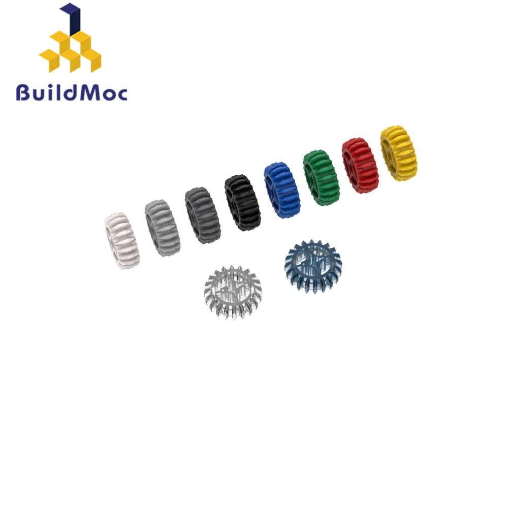 BuildMOC 32269 20-zębów dwustronne przekładnie walcowo stożkowe Technic wymiany waluty złap dla klocki części DIY edukacyjne Tech zabawki