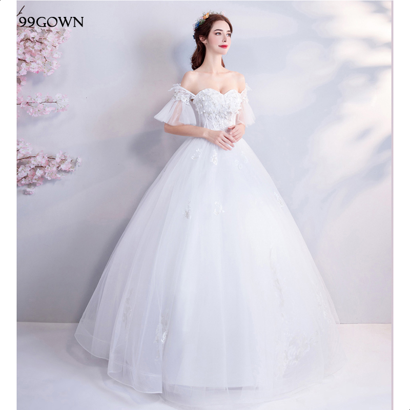 99GOWN Satin Tulle Wedding Dress Luxury Beading Embroidery A-Line Chapel Train Wedding Dress Backless Ruffled Wedding Gown