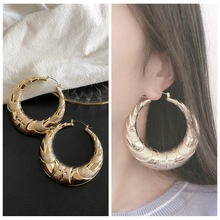 цена на Geometric Round Earrings Women Hanging Dangle Earrings  Exaggerated metal alloy earrings  Modern Female Accessories