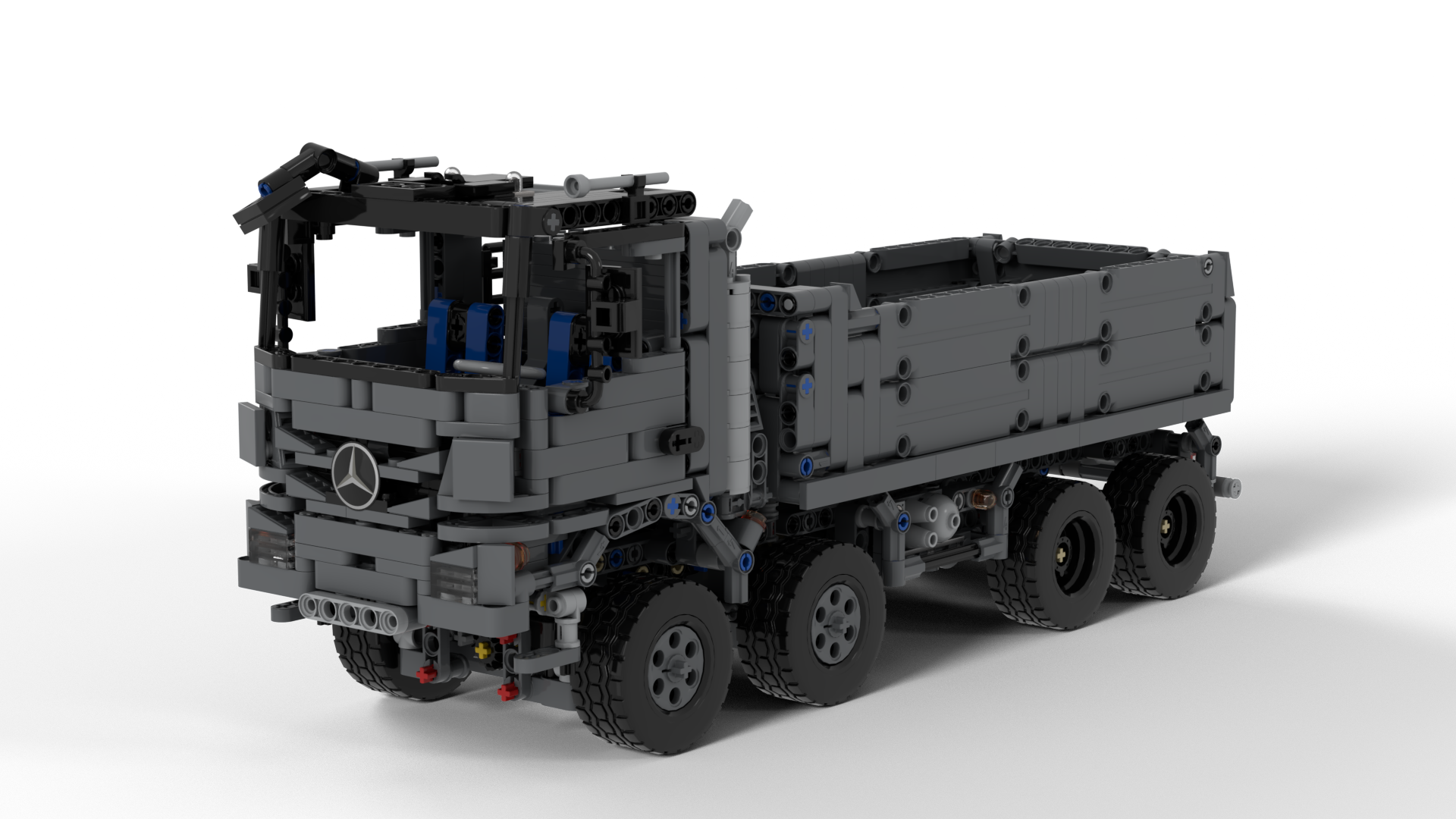 Technic MOC 25443 Lego Technic 8x4 Mercedes Actros Dump Truck Designed By Antoineddp