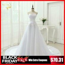 Vestidos De Novia 2019 New Arrival Chiffon Wedding Dresses Robe De Mariage A Line Lace Up