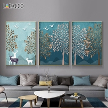 Abstract Nordic Modern Home Decoration Poster Print Canvas Painting Forest Landscape Wall Art Picture for Living Room Home Decor haochu nordic landscape canvas art print painting poster modern fresh hazy plants character home wall decoration for living room