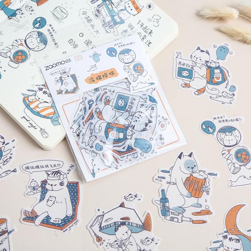 Creative Kawaii Girl Stickers Bag Cute Cartoon Decoration Handbook Paper Sticker DIY Diary Stationary Sticker Supplies 06573