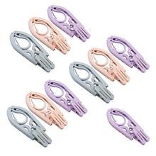 10 шт. переносные вешалки для одежды для путешествий, складная вешалка для одежды, ветрозащитные вешалки, нескользящая пластиковая вешалка для домашнего магазина