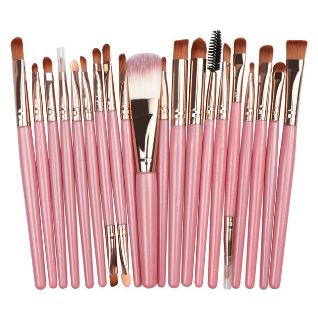 20Pcs/lot Eyeshadow Makeup Brush Set Fashionable Eyebrow Eye Shadow Powder Cosmetic Kit 1