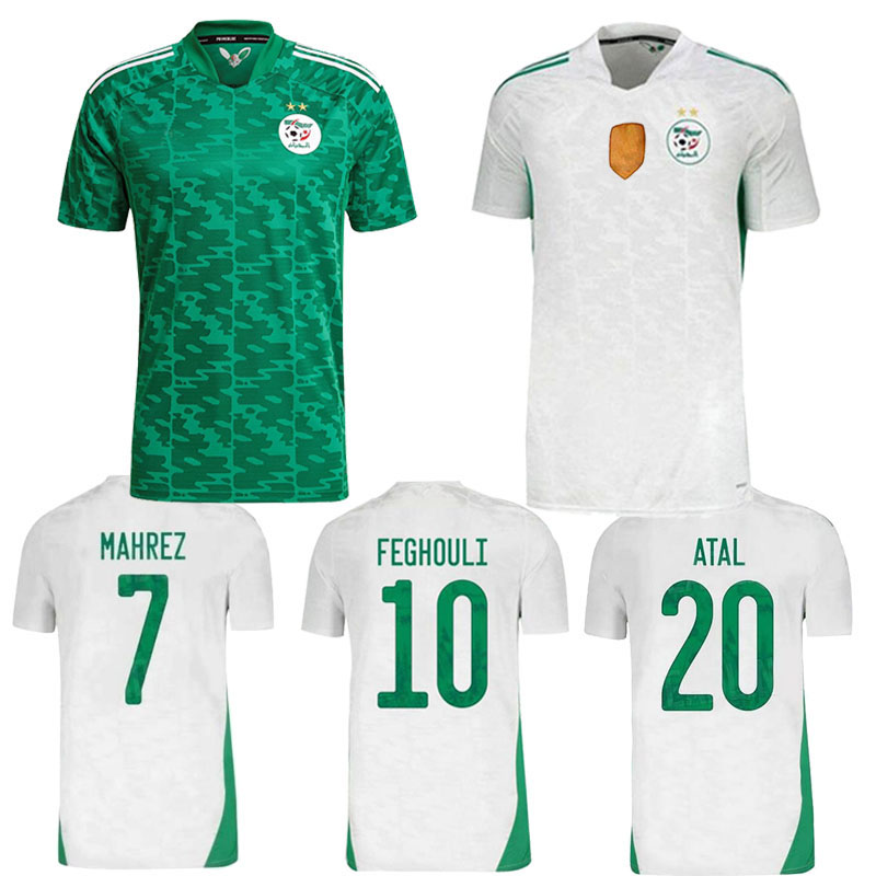 NEW 2020 2021 Algeria 2 stars Algeria soccer jersey 20 21 MAHREZ SLIMANI FEGHOULI BENNACER Algerie Maillot de Football Shirt
