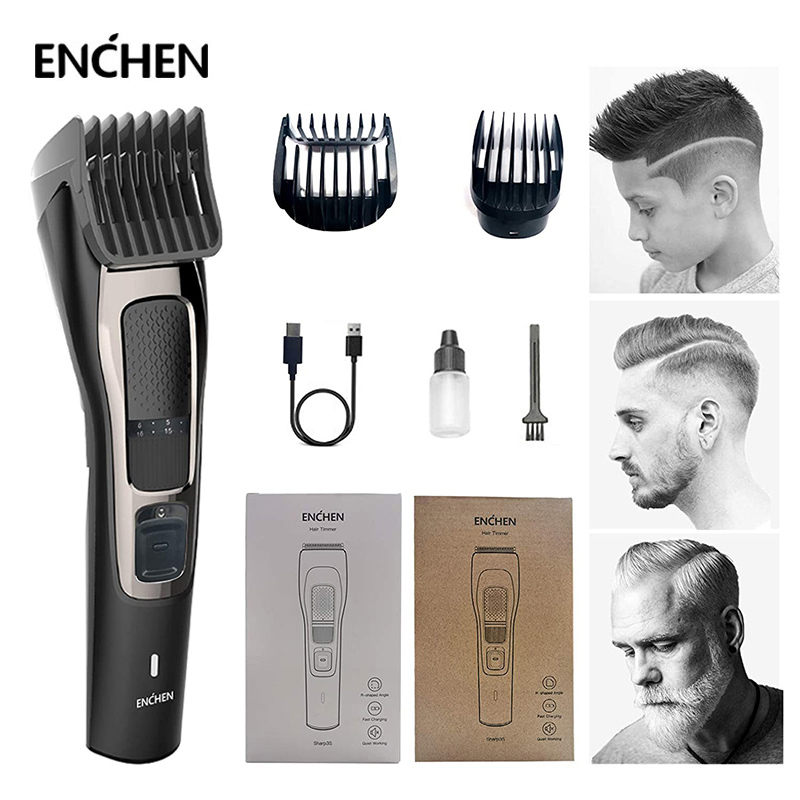 ENCHEN Sharp3S Men's Electric Hair Clipper USB Rechargeable Hair Trimmer Professional Hair Cutter for Men Adult Razor