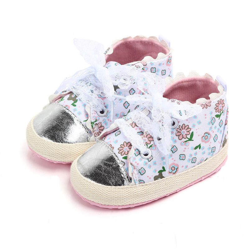 Newborn Baby Shoes Soft Sole Flower Lace New Born Baby Girl Boy Shoes Infant Toddler Girls First Walkers Shoes Schoenen Meisje