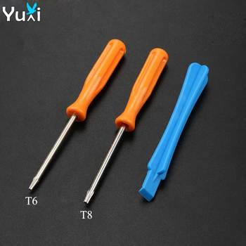цена на YuXi For Xbox One X S Slim / Elite Controller Torx T8 T6 Screwdriver Tear Down Repair Tools Kit