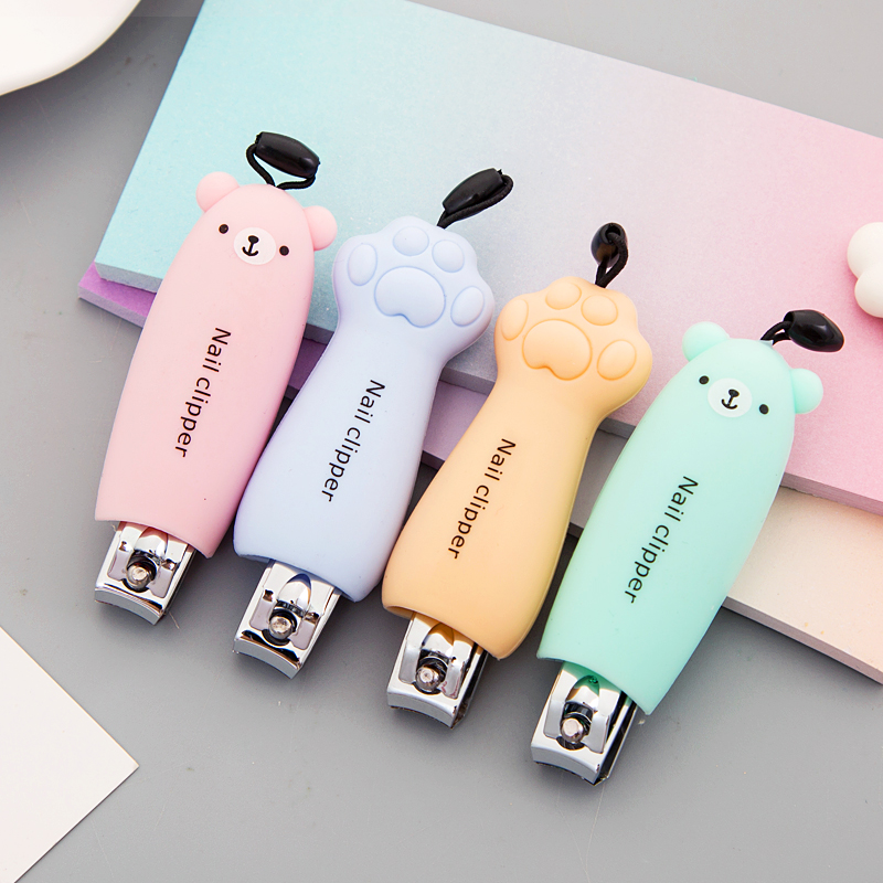 Cute Cartoon Single Nail Scissors Trumpet Cut Toenail Nail Clippers Household Adult Finger Clip Toenail Clippers