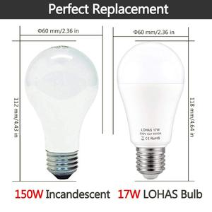 Image 4 - Bombillas LED E27 E26, 150W equivalentes a 17W, lámpara rosca Edison, Blanco cálido/frío, 6000K, superbrillante, 1600Lm, ahorro de energía, 4 paquetes