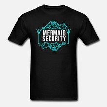 Men t shirt Mermaid security Lifeguard Swimming Teacher Merman tshirts Women t shirt(China)