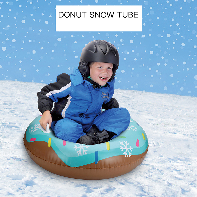 80cm Inflatable Skiing Tool Toys Facility Snow Tube for Children Kids Outdoor Toys Skiing Tool Winter Sled Snowmobile Ski Bag