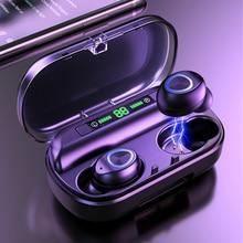 TWS Bluetooth אוזניות עם מיקרופון LED תצוגה אלחוטי Bluetooth אוזניות אוזניות עמיד למים רעש מבטל אוזניות
