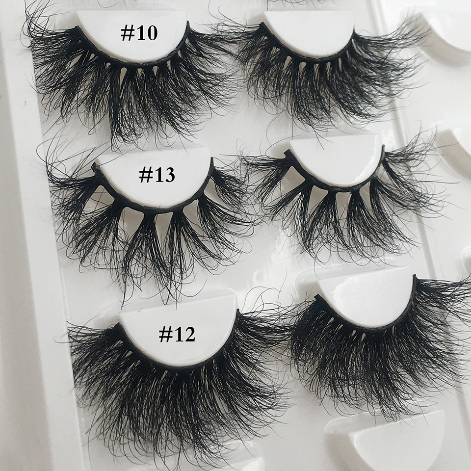 Mink-Eyelashes SIREN Dramatic Fluffy Wholesale Makeup Long RED 25mm Messy 3D