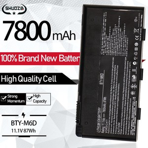 New BTY-M6D Laptop Battery For MSI GX60 GT60 GT780DX GX660 GT70 GX680 GX780 GT780R GT660R GT663R GT783R 9Cells 7800mAh 87Wh