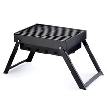 Small Outdoor Portable Folding Barbecue Charcoal Grill Easy Assemble and Remove Cooking Set BBQ