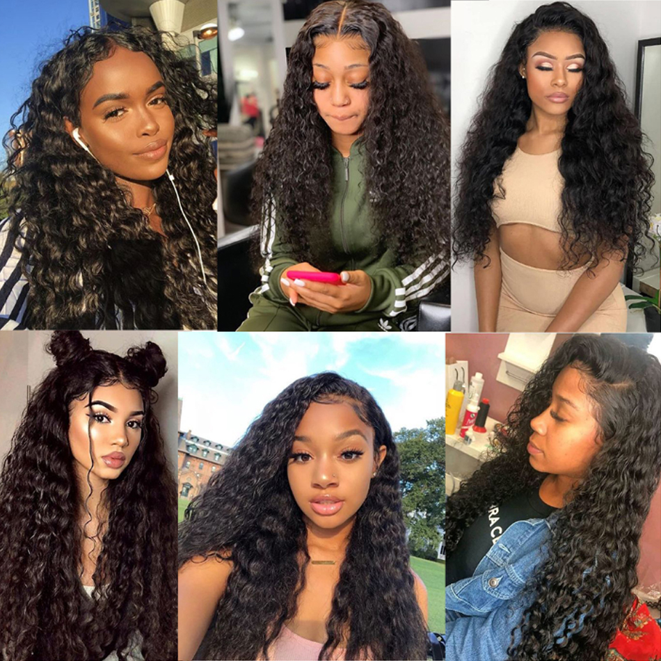 Loose Deep Wave Frontal Wig Bob Wig Lace Front  Wigs  30 Inch  Water Wave Lace Front Wig 6