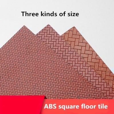 Architectural Model Material Floor Tile Floor Tile ABS Decoration Floor Brick Square Brick Red Square