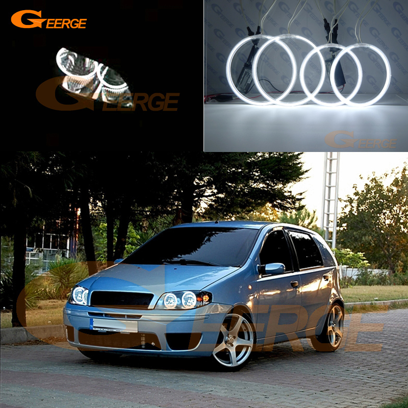 Excellent Ultra Bright CCFL Angel Eyes Kit Halo Rings For FIAT PUNTO 188 Mk2 2003 2004 2005 2006 - ON Facelift Headlight