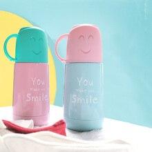 Smile Face термос чашки портативная бутылка для воды для взрослых дорожные бутылки вакуумная колба