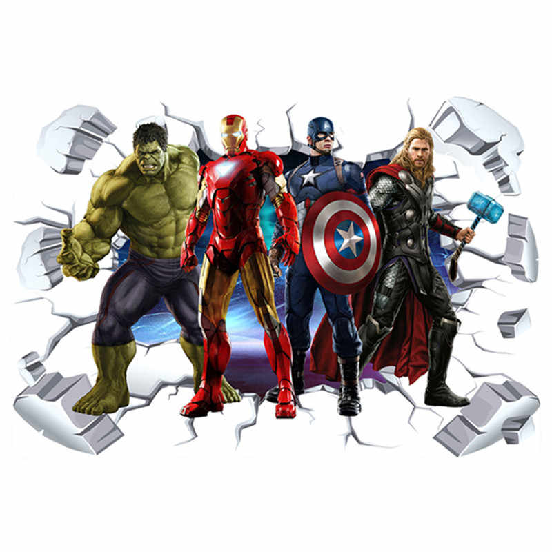 Marvel's The Avengers Wall Sticker Decals For Kids Room