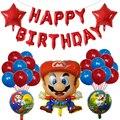 38 stücke Super Mario Luftballons 30 inch Anzahl Ballons Junge Mädchen Geburtstag Party Mario Luigi Bros Mylar Ballon Dekoration Kinder spielzeug