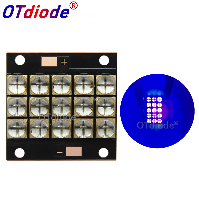 УФ светодиодный модуль отверждения 150 Вт высокой мощности Светодиодный УФ Фиолетовый 6565 365 до 370nm 380 до 385nm 395 до 400nm 400 до 405nm 35*35 мм Плата