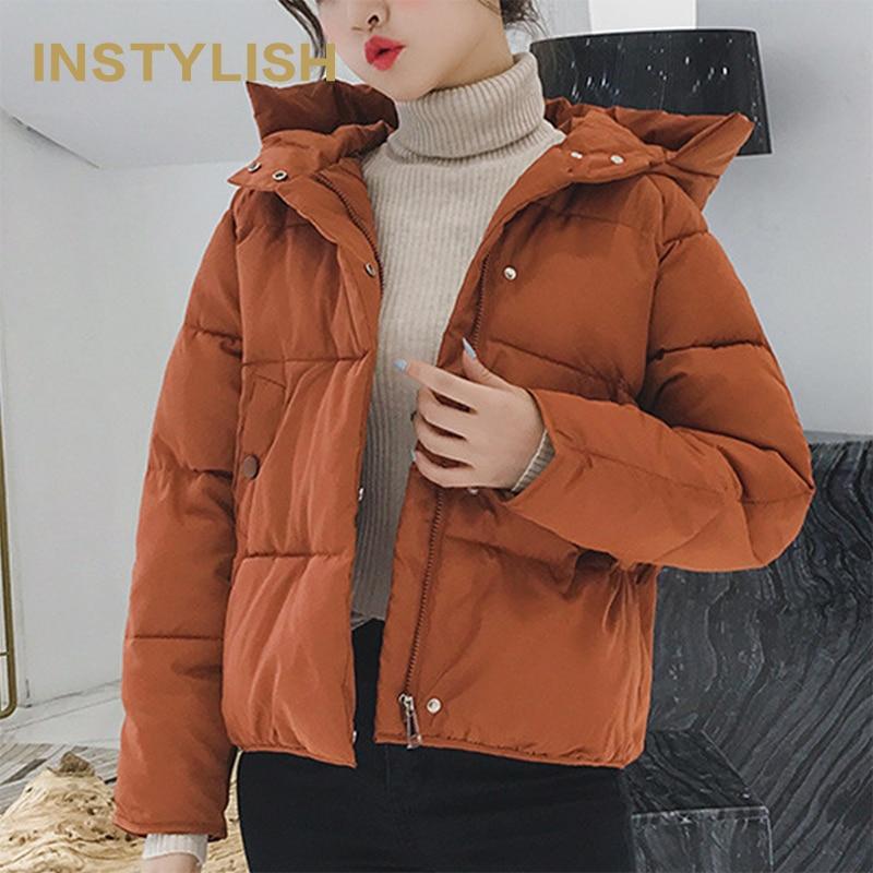 Instyling женские зимние парки повседневные куртки-Пуховики корейские Harajuku Свободные пиджаки 2019 теплые толстые ватные парки 2019