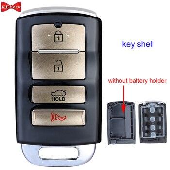 KEYECU para Kia Cadenza sin soporte de batería carcasa de llave a distancia de coche carcasa Fob cubierta 4 botones