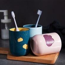 Простая чашка для мытья зубной щетки дома ванной комнаты пластиковый