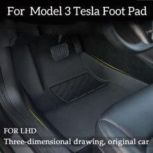 Lhd Full Omgeven Speciale Voet Pad Waterdicht Antislip Vloermat Tpe Xpe Aangepast Voor Tesla Model 3