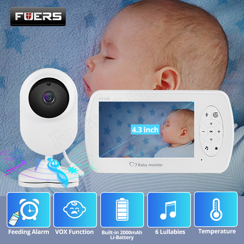 Wireless 4.3 Inch Video Baby Monitor 1080P Long Transmission Distance Nanny Baby Camera With Clamp Security Camera Babysitter
