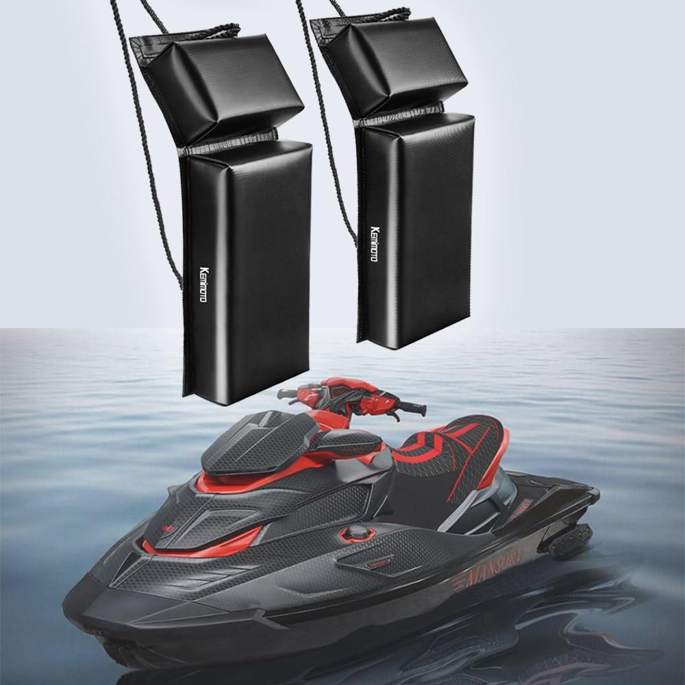 KEMiMOTO PWC Boat Fender Protection Mooring Bumper Jet Ski for Sea Doo Waverunner Pack Boat Fender Hanger Tector Pontoon Holder