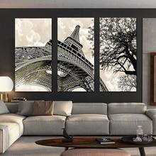 3 panel Wall Art Landschap Schilderen Parijs Eiffeltoren Foto Posters En Prints Op Canvas Poster Muur S Voor Woonka