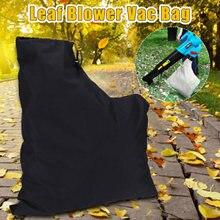 Saco de pó com zíper tipo poliéster armazenamento folha ventilador coleção poeira gramado shredder substituição armazenamento saco mais limpo ferramenta jardim