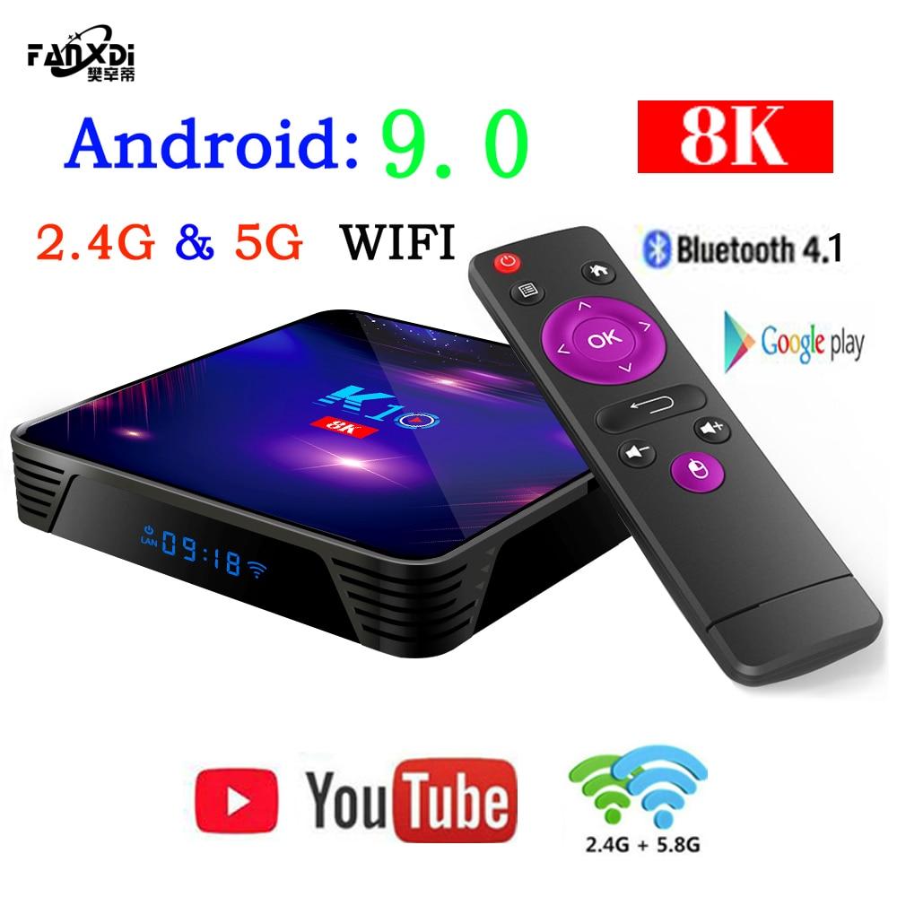 FANXDI K10 mini Android 9.0 mini Smart TV BOX S905X3 Quad Core support 2.4G/5G Wireless WIFI media Android box Set-Top Box