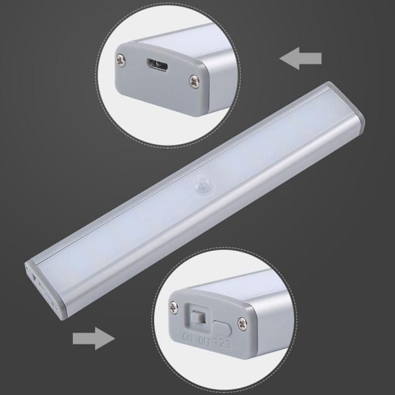 20 светодиодный светильник с датчиком движения PIR, автоматический светильник с датчиком движения, Ночной светильник с питанием от батареи, н...