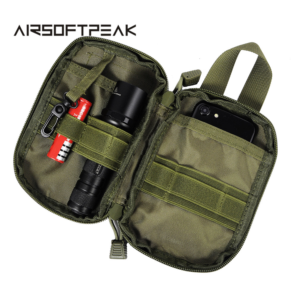 Tactical Military EDC Molle Pouch Handbag Mesh Tools Flashlight Pouches Waist Hunting Bags Accessories Outdoor Magazine Pocket
