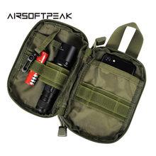 Taktik askeri EDC Molle kılıfı çanta örgü araçları el feneri torbalar bel avcılık çanta aksesuarları açık dergi cep