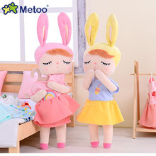 Soft Dress Up Metoo Angela Doll Clothes Can Be Changed Plush Doll Kids Toys for Girls Kawaii Stuffed Rabbit Toy Christmas Gift(China)