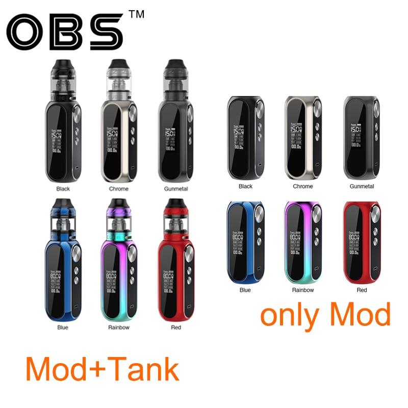 Original 80W OBS Cube VW Box MOD Batterie 3000mAh vs OBS Cube VW Vape Kit mit 4ml mesh Tank Zerstäuber Vape Box Mod Vs Drag 2-in Elektronische Zigaretten-Kits aus Verbraucherelektronik bei  Gruppe 1