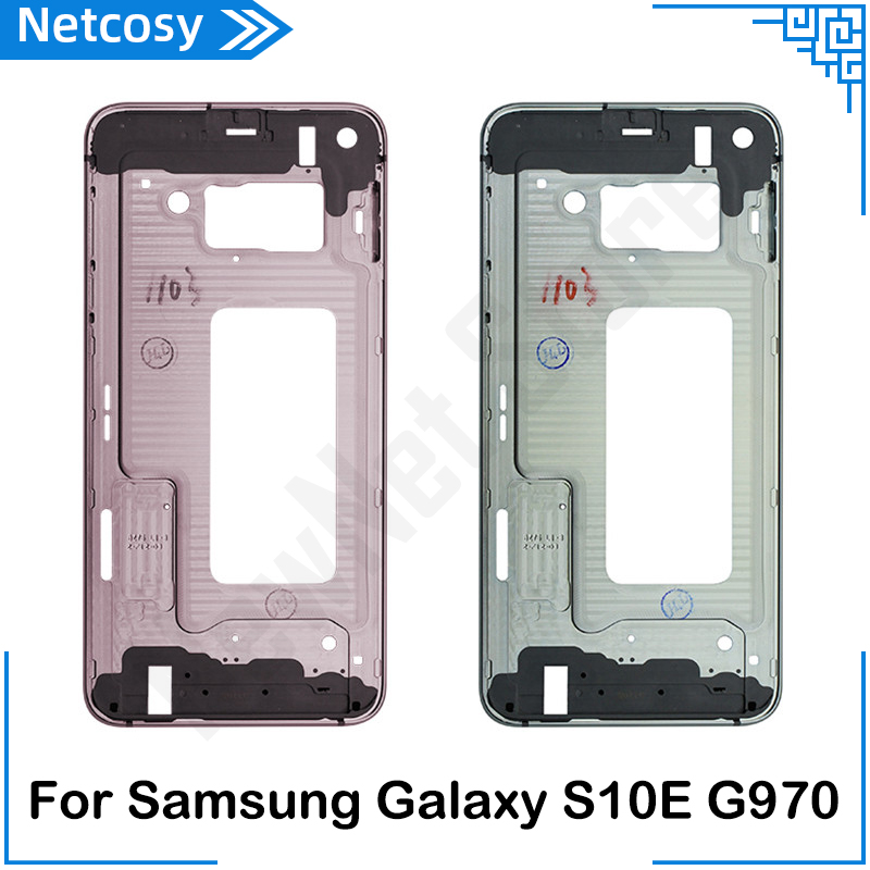 For Samsung Galaxy S10E G9700 Back Mid Middle Frame Rear Housing Cover Bezel Replacement repair parts For S10E G970 Middle Frame image