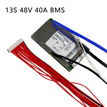 Akumulator litowo-jonowy BMS 13S 48V 20A 30A 40A i 50A BMS dla 48V 500W-2000W akumulator litowo-jonowy z funkcją równowagi tanie i dobre opinie ANNBATTERY Bateria Akcesoria 48V13S 13 series 20-50A 45mA 3 7V Li-ion cell 48V 10Ah 20Ah 30Ah 40Ah 50Ah li-ion battery pack