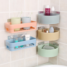 Practical Bathroom Plastic Storage Kitchen Accessories Rack Organizer Shower Shelf Suction