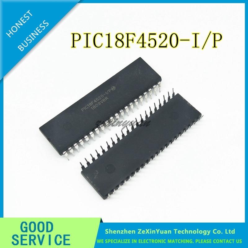 1Pcs PIC18F4520-I//P Pic 18F4520 DIP-40PIN US Stock h