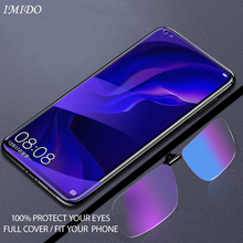 IMIDO Full Cover for VIVO Z3X Z5X Anti Blue Tempered Glass Screen Protector Blue-ray Protective Film 2.5D