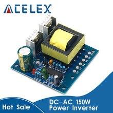 Inversor de potencia de 150W para coche, convertidor de cargador de 12V de CC a CA, 110V, 220V, 20KHZ, placa de refuerzo, onda cuadrada de alta frecuencia